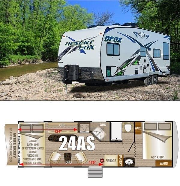 Northwood Desert Fox 24AS Travel Trailer