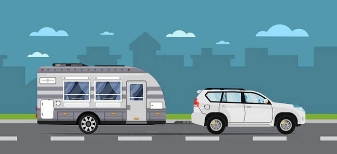 pop up camper towing
