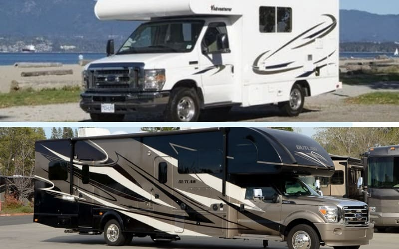 small vs long class c rv
