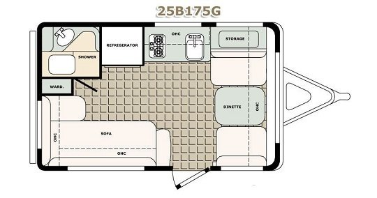teardrop triler basic floor plan