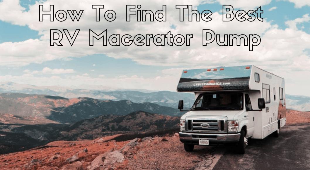 est RV Macerator Pump
