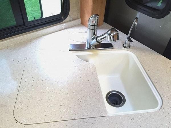 RV Sink Installing