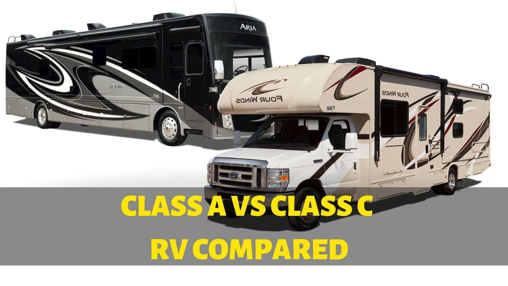 Class A vs Class C RV – What's the Difference?