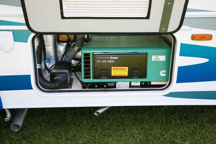 generator power rv fridge while driving