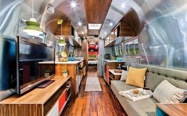 Airstream luxury travel trailer