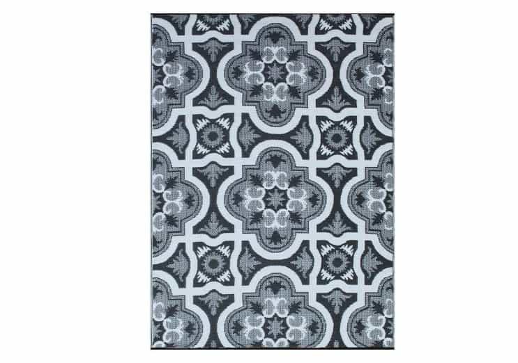 smart design reversible plastic rug