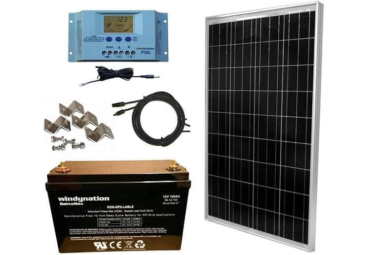 WindyNation 100W Solar Panel Kit